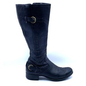 Paul Green Munchen Black Leather Knee high boot